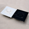 Tempered Glass White or Black Plate 5 gear Rotate Sound Volume Switch