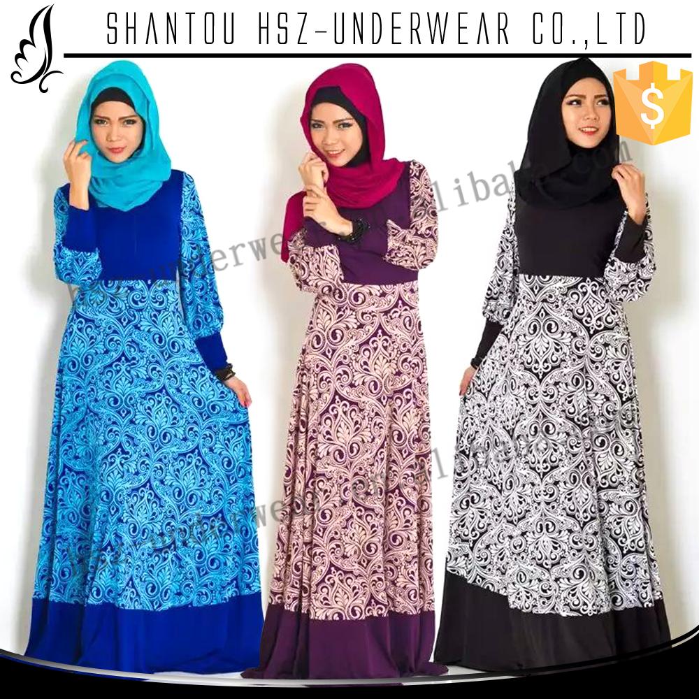 Modern dress casual - Md10025 Hot Sale Classic Vintage Big Skirt Elastic Waist Elegant Chiffon Muslim Strong Dress