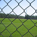 Galvanized chain link wire mesh fence , chain link fencing for sale