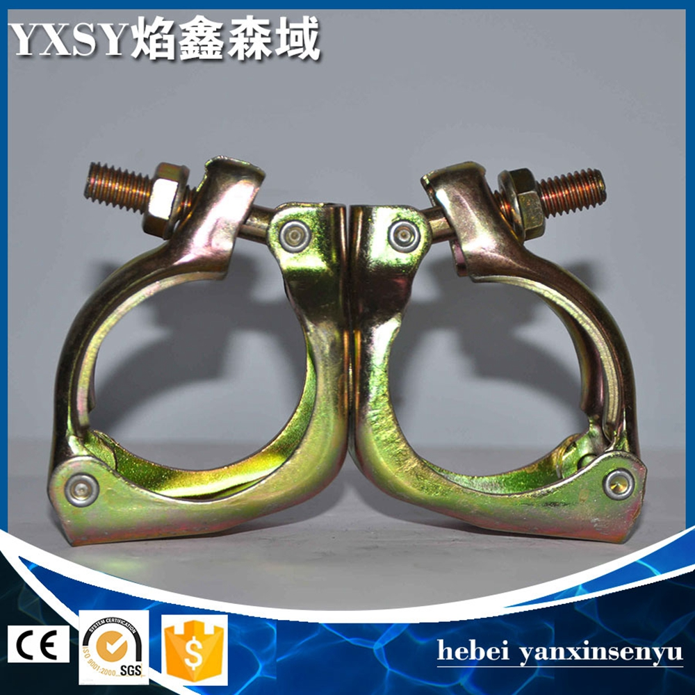 Galvanized scaffolding pipe connecting clamp swivel coupler