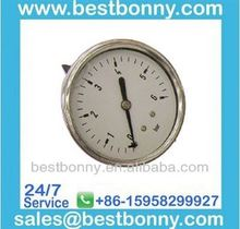 stainless steel vibration-proof oil filled pressure gauge in industry