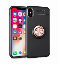 For iPhone X Case with Ring Kickstand ,360 Rotating Holder Case for iPhone X Compatible with Magnetic Car Mount