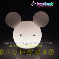 Mickey rechargeable wireless Music bluetooth speaker operated by smart phone APP