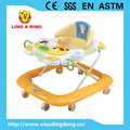 Enropean standrad baby walker with music and light high quality simple baby walker with rubble stopper for EN STANDARD