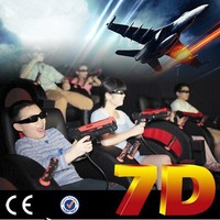 Fashionable Hydraulic / Electric System 7d Simulator 7d Interactive Cinema 7d cinemqa chairs 7d cinema hot