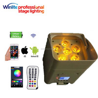 cheap price but high quality battery powered 6x18w 6in1 ir remote wireless led par light