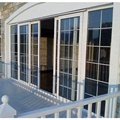 exterior double glass aluminum french sliding door