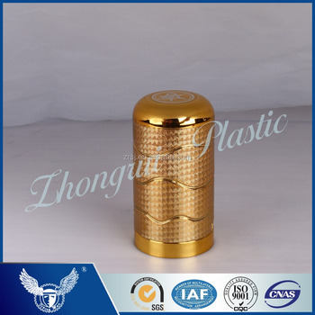 Newest design shiny gold colored have rasied grain twist-off cap