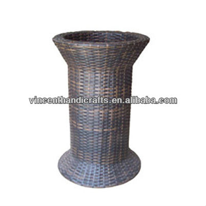 Home table decoration plastic rattan weaving vase flower arrangement plant basket