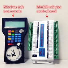Big sale!!!4 AXIS 2MHZ Speed Mach3 cnc controller board and wireless cnc usb remote, LCD Display