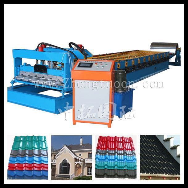 950 glazed tile roll forming machine, glazed steel making machine