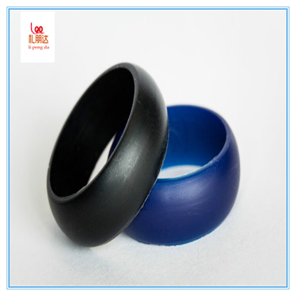 custom cheap imprited silicone thumb ring ,black grey purple silicone ring for children and adults