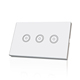 3 Gang 1 Way smart home wifi switch us standard network app remote control automatic touch light switch