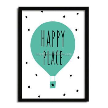 Newest 33*43cm Happy Place Design Wall Hanging Picture