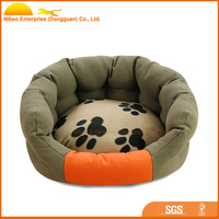 Lucky paw printed pet dog bed for your friends
