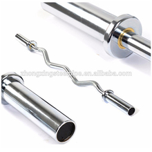 High Quality 10kg 1.2m curved barbell bar with collars