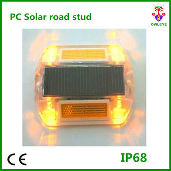 IP68 CE plastic led solar cat eye road stud,solar powered led flashing road light