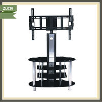 Commom modern glass floor tv stand ZL036