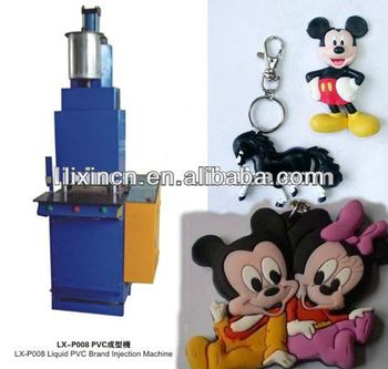 liquid plastic injection moulding machine for pvc label key chain