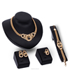 Nigerian Wedding African Crystal 18k Gold Plated Bridal Jewelry Sets Fashion Women Necklace And Earring Set Bridesmaid SKJT0285