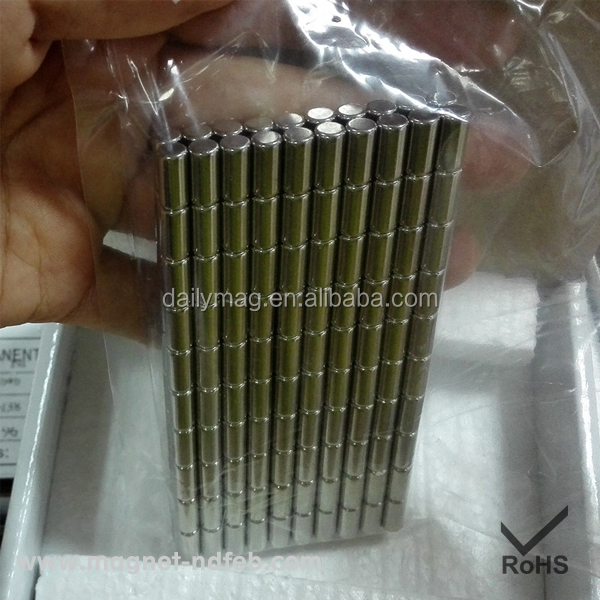 Permanent Small Cylinder Neodymium Thin Rod Magnet