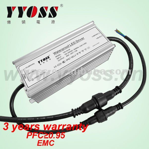 Competitive price 45W 24V constant voltage led strip light driver power supply transformer