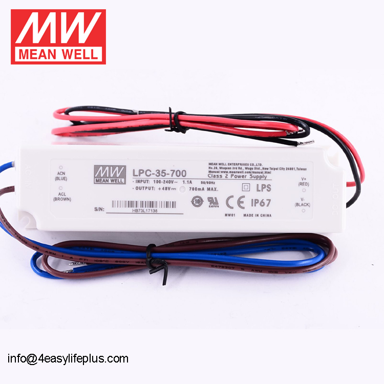 Meanwell 33.6W Waterproof LED Driver 700mA LPC-35-700