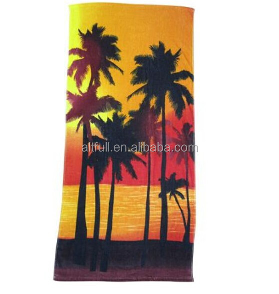 Custom 100% Cotton Printed compressed beach towels for gifts