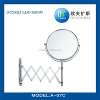 hotel and household professional wall mount magnifying shaving mirror