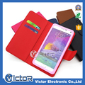 Fashion slide silicone universal smart phone wallet style leather case