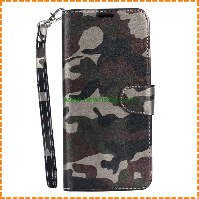 High quality army color magnetic leather phone case with card slot for Samsung Galaxy S8 Plus