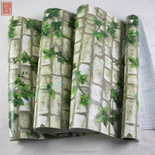 SG W83 Natural plants decorative wallpaper for house and living room/waterproof 3D customs wallpaper