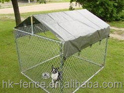 3m*3m*1.8m galvanized outdoor large dog kennel with roof