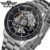 T-winner High Qulity Top 10 Wrist Watch Branded Custom Jam Tangan Automatic Skeleton Steel Black OEM Mens Watches