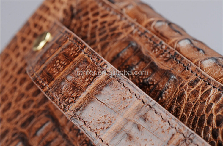 New arrival Luxury Genuine Caiman Crocodile Leather Man Wallet