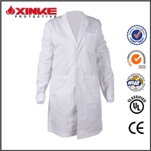 anti bacterial white medical lab coat for hospital