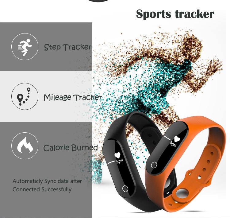 OEM/ODM smart band with touchsreen fitness tracker Sedentary reminder wristband heart rate monitor