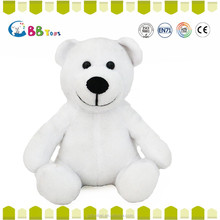 Big teddy bear 2015 new hot sales pure white black nose bears