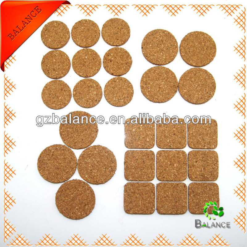 Adhesive non-woven cork furniture pads