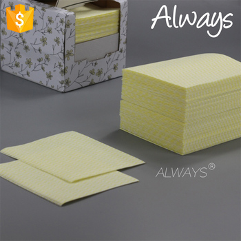 Household Nonwoven 22mesh wave printing spunlace nonwoven novelty dry cleaning wipes