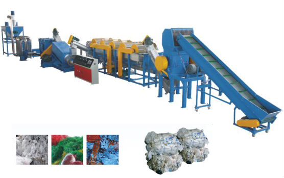 plastic film crushing and washing machine waste plastic film recycling line