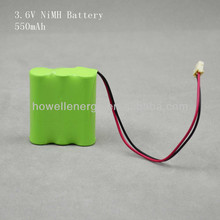 Customize ni-mh aaa battery rechargeable 3.6v 550mah ni-mh batteries pack