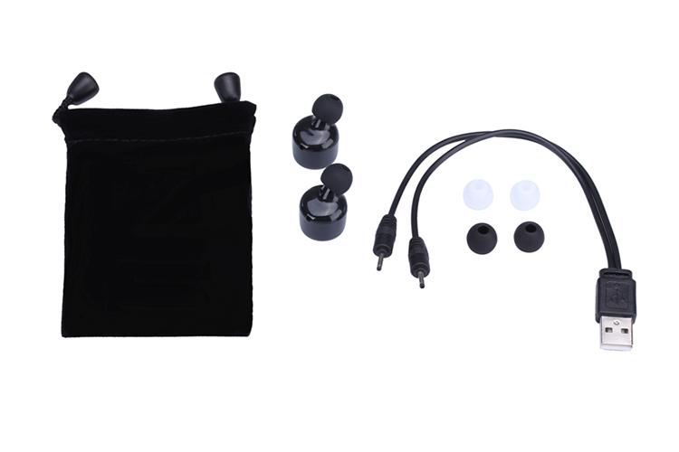 Wireless single earring bluetooth headset for walkie talkie two way radio