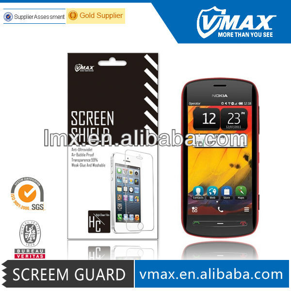 Vmax Quality Mobile Phone screen protector for Nokia 808 oem/odm (Anti-Glare)
