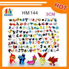 Hot selling 2-3cm pvc Pokemon Figure Toys 144pcs