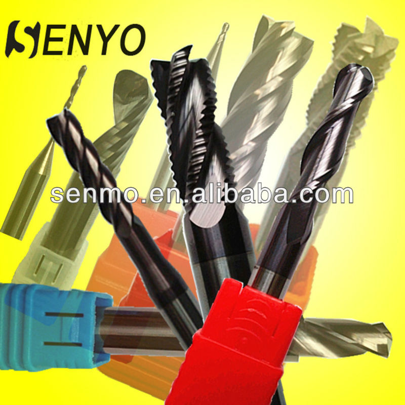 Senyo Carbide Spiral Ball Nose Cutter Bit/Solid Carbide Endmill/CNC Milling Tools Drill Acrylic/Metal/Steel