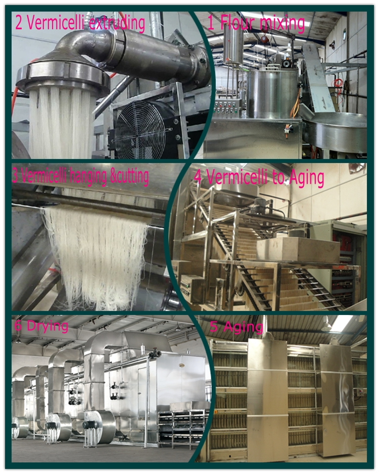 Folding Type  Industrial Rice Vermicelli Noodle Extrude Making Machine/ Automatic Thin Rice Vermicelli  Machine