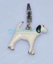 fashion silver color kids animal wolf charm with cheap price