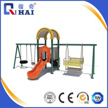 2017 new design swing and slide metal swing sets kids