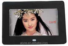 7 Inch Electric Frame With A-Level LCD Screen Auto Play Photos with Music when Power on